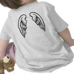 Santo en camiseta del bebé del entrenamiento con l