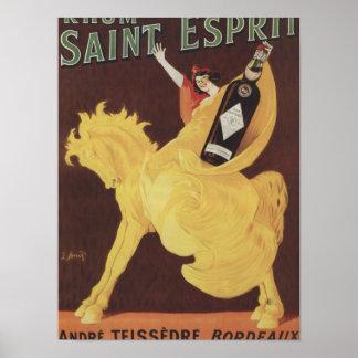 Santo Esprit de Rhum - promo de Andre Teissedre Póster