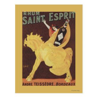 Santo Esprit de Rhum - promo de Andre Teissedre Postal