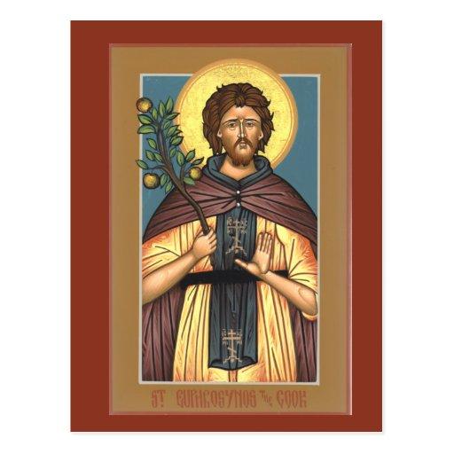 Santo Euphrosynos la tarjeta del rezo del cocinero Postal