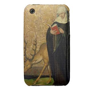 Santo femenino con un macho (aceite en el panel) iPhone 3 cárcasa
