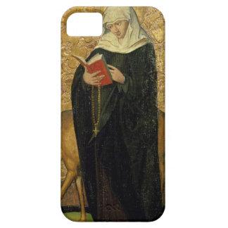 Santo femenino con un macho (aceite en el panel) iPhone 5 protector
