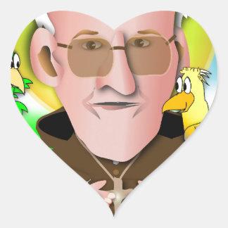 Santo Francisco Pegatina En Forma De Corazón