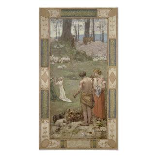 Santo Genevieve como niño en rezo por Puvis Cojinete