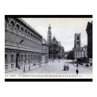 Santo-Genevieve de la biblioteca, París, Francia V Postales