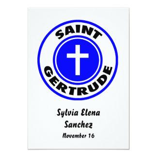 """Santo Gertrudis Invitación 5"""" X 7"""""""