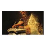 Santo Gregory de Francisco Goya- Plantilla De Tarjeta De Negocio