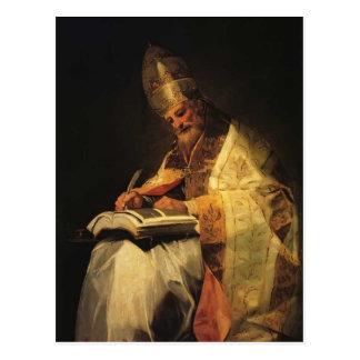 Santo Gregory de Francisco Goya- Tarjeta Postal