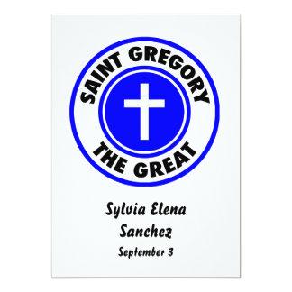Santo Gregory el grande Invitación 12,7 X 17,8 Cm