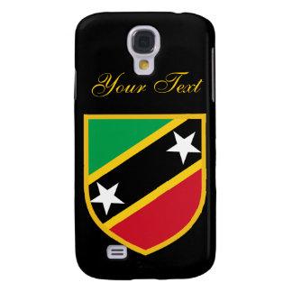 Santo hermoso San Cristobal y bandera de Nevis Funda Para Galaxy S4