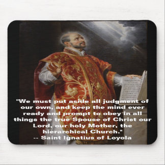 Santo Ignatius de Loyola Mousepad