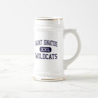 Santo Ignatius - gatos monteses - alto - Cleveland Jarra De Cerveza