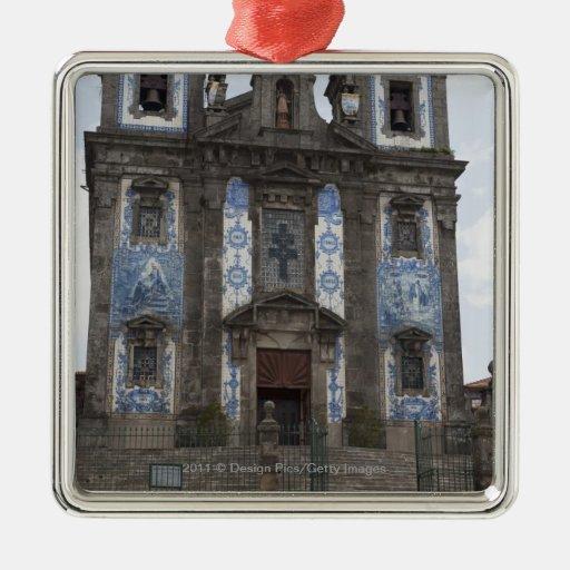 Santo Ildenfonso Church With Tile Panels Christmas Tree Ornaments