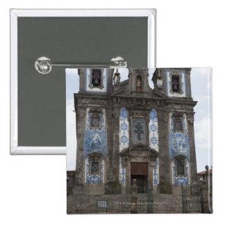 Santo Ildenfonso Church With Tile Panels Pinback Button