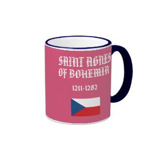 Santo Inés de la taza del personalizado de Bohemia