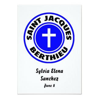 """Santo Jacques Berthieu Invitación 5"""" X 7"""""""