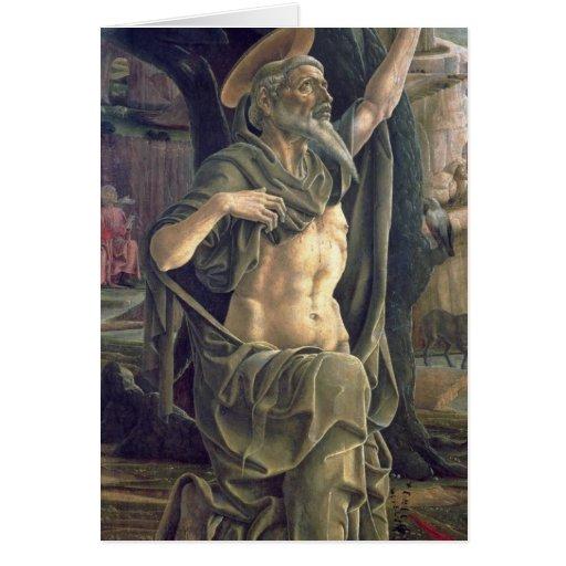 Santo Jerome, c.1470 Tarjeta