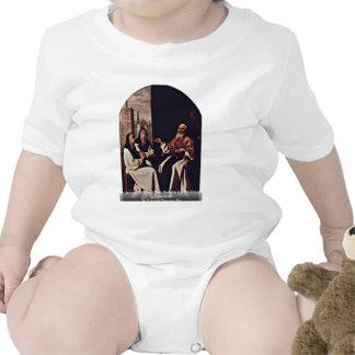 Santo Jerome con el santo Paula Romana Trajes De Bebé