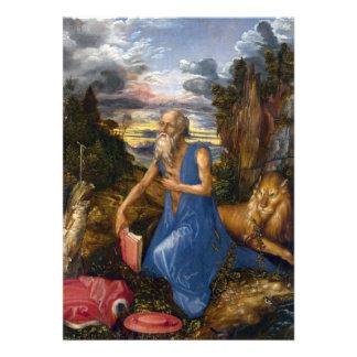 Santo Jerome en el desierto por Durer Comunicados