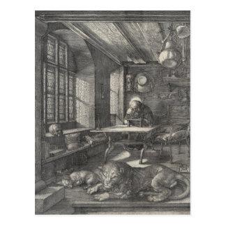 Santo Jerome en su estudio de Albrecht Durer Postales
