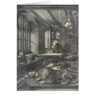 Santo Jerome en su estudio de Albrecht Durer Tarjeta De Felicitación