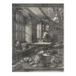 Santo Jerome en su estudio de Albrecht Durer Tarjeta Postal