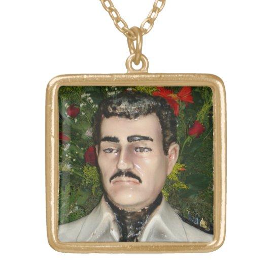 """""""Santo"""" Jesús Malverde Gold Plated Necklace"""
