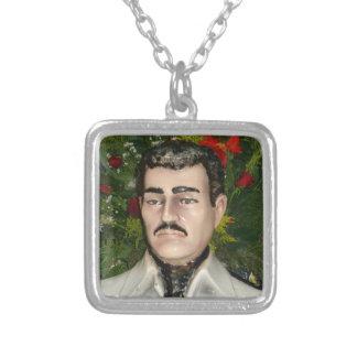"""Santo"" Jesús Malverde Square Pendant Necklace"