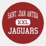 Santo Joan Antida - jaguares - alto - Milwaukee Pegatina Redonda