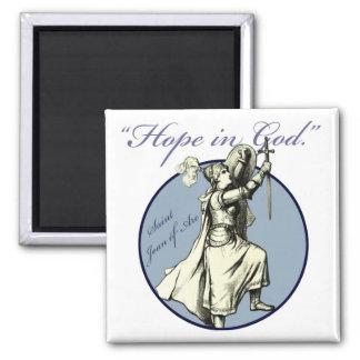 Santo Juana de Arco - imán cristiano