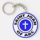 Santo Juana de Arco Llavero Personalizado