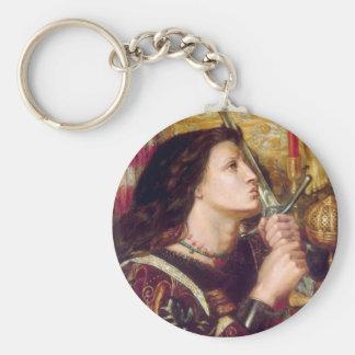 Santo Juana de Arco Llavero Redondo Tipo Pin