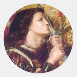 Santo Juana de Arco Pegatinas Redondas