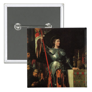 Santo Juana de Arco Pin Cuadrado