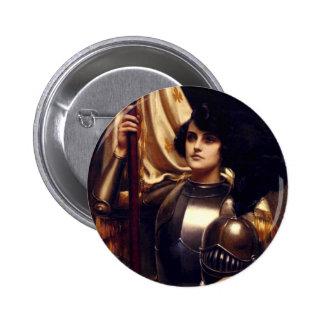 Santo Juana de Arco Pin Redondo De 2 Pulgadas