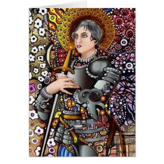 Santo Juana de Arco Tarjeta De Felicitación