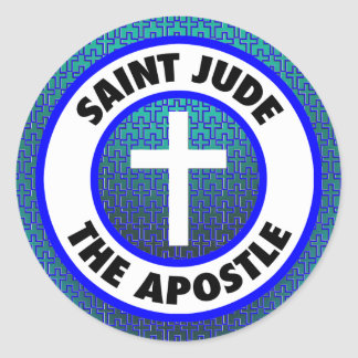 Santo Jude el apóstol Pegatina Redonda