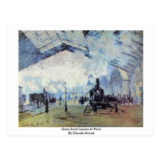 Santo Lazare de Gare en París de Claude Monet Postales