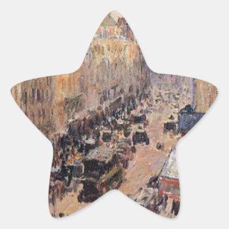 Santo Lazare de la ruda de Camille Pissarro Pegatina En Forma De Estrella
