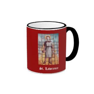 Santo Lorenzo, patrón de cocineros, taza
