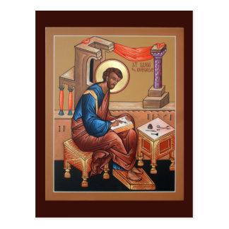 Santo Lucas la tarjeta del rezo del evangelista Postal