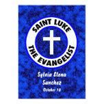 Santo Lucas que el evangelista invita Invitación 12,7 X 17,8 Cm