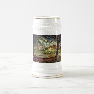 Santo-Mammès 1884 del bei de Alfred Sisley - del S Jarra De Cerveza