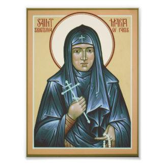 Santo Maria de la impresión del icono de París Cojinete