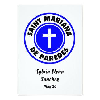 Santo Mariana De Paredes Invitación 12,7 X 17,8 Cm