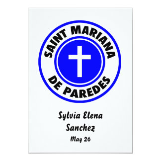 """Santo Mariana De Paredes Invitación 5"""" X 7"""""""