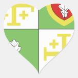 Santo Marte (Ile de France) del franco Chalo del Calcomanía De Corazón Personalizadas