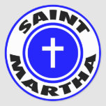 Santo Martha Pegatinas Redondas