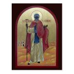 Santo Moses la tarjeta etíope del rezo Tarjeta Postal