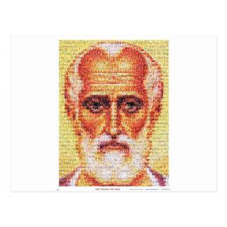 Santo Nicholas con los santos Postal